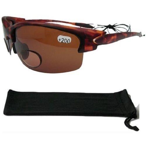 Damen Sonnenbrille Bifokal Polarisiert Angeln Segeln Bernstein Objektiv 100% UVA/B 159+ 1,50