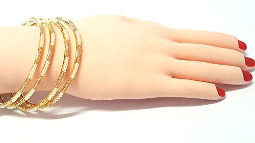 Bracelet de perle d'or Bracelet de main de chaîne de main de bracelet de Kangan (Pb-34930) golden