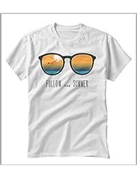 Camiseta uomo-Donna Follow The Summer 1bbeec0fd621