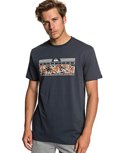 Quiksilver The Jungle T-Shirt Homme, Blue Nights, FR : M (Taille Fabricant : M)