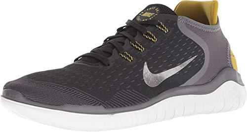 Nike Free RN 2018, Herren Fitnessschuhe, Mehrfarbig (Black/MTLC Pewter-Peat Moss-Thunder Grey 009), 42.5 EU (Schuhe Nike Run Männer)