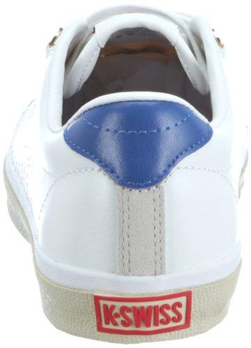 K-Swiss DEUCE VNZ 02812-002-M, Sneaker uomo Bianco (Weiss (Classic White/Gravilla/Classic Blue/Red))