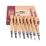 Super scharfe und stärkere Klingen-Upgrade Handwerk Schnitzen Werkzeuge Holzschnitt Messer Set Carving Set Hochwertige SK7 Kohlenstoffstahl