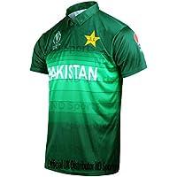 AJ Sports 2019 ICC - Camiseta Oficial de la Copa del Mundo de Cricket de Pakistán, edición Limitada del Reino Unido, Color Multicolor, tamaño Extra-Large