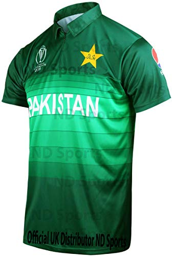 642a4752857 AJ Sports 2019 Icc Official Pakistan Odi Cricket World Cup Jersey Shirt  Medium