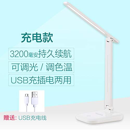 Schreibtischlampe Augenschutz Student Charge Plug-in Dual-Use-Leseschlafzimmer Nachttischlampe LED-Klapp X8-Lade (3200 mAh)