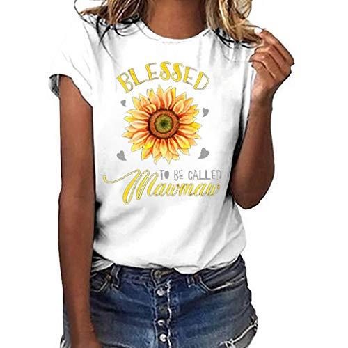 Batik-sandalen Aus Leder (Lurcardo Damen Shirts Sommer Mode Rose Gedruckt Kurzarm Tops Lässiges Lose Bluse Oberteile Teenager Mädchen T Shirt Hemd Pulli Pullover S/M/L/XL ...)