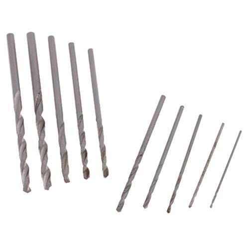 10 pcs 0,8-3mm Bohrmaschine Handbohrmaschine Handbohrer Drillbohrer Spiralbohrer Bohrer für Präzisionshandwerk, Schmuck, Uhrenreparatur