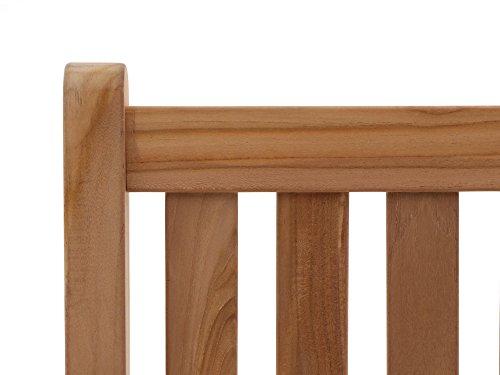 Stabile Gartenbank Sunyard Wales aus massivem, unbehandeltem Holz, Teakholz 3 Sitzer 150 cm - 5