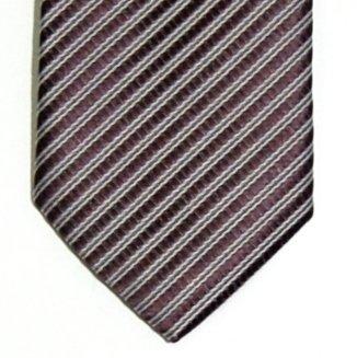 Cravate Fine Slim Texturé À rayures Tissée en Microfibres de Retreez Rose - Rosa - Rose Wood
