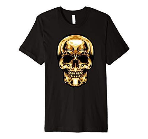 (Golden Skull Head Shirt Perfekt Halloween Kostüm Geschenk)