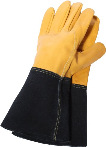Are you looking to get tough gloves at a good price? The Town & Country TGL109M Deluxe Premium Leather Gauntlet Ladies Gloves is a good choice. The gloves are well designed to fit ladies hands. We like that they can handle tough jobs without tearing or getting significant damage. The price is more affordable than ever so they are easily attainable. You might have stained hands once in a while but it is easy to get the dye off.