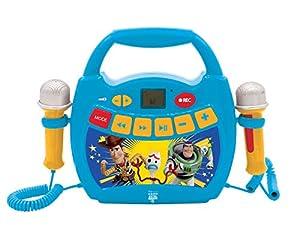 Lexibook- Disney Toy Story 4, Mi Primer Reproductor Digital con micrófonos, botón de Grabación, Efecto de Cambio de Voz, para niños, Azul/Amarillo, MP300TSZ, Color