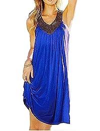 Minetom Best Preis Europäische und amerikanische Mode heißen Bohren Strandkleid,Kleid Urlaub,Beachwear