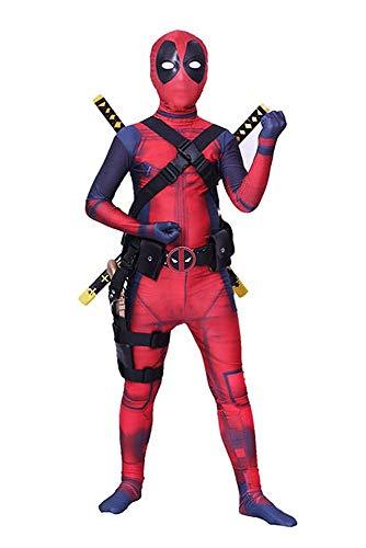 shoperama Deadpool Kostüm für Teenager Damen und Herren Superhero Superheld Comic Anti-Held Overall Cosplay, ()