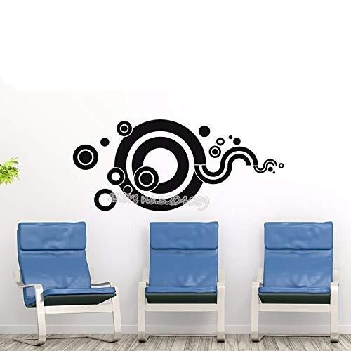 SFJHSA Kreative Circular Fantasy Wandtattoo Verschiedene Kreismuster Kreise Tapete Wohnkultur Für Wohnzimmer Vinyl Wandbilder Ea475, Teal, 96X42 cm -