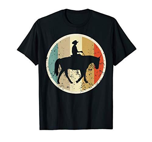 Westernreiten Westernreiter Cowboy Reiter Retro Vintage T-Shirt -