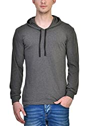 INKOVY Men's Hooded Full Sleeve Cotton T-Shirt