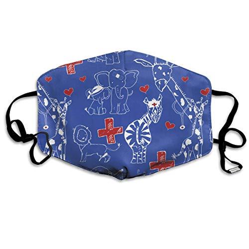WBinHua Masken, Masken für Erwachsene, Mask Face, Mouth Mask, Breathable Mask Anti Dust, Unisex Pediatric Animal Hospital Printed Cotton Mouth-Masks Face Mask Polyester Anti-dust Masks (Pediatric Maske)