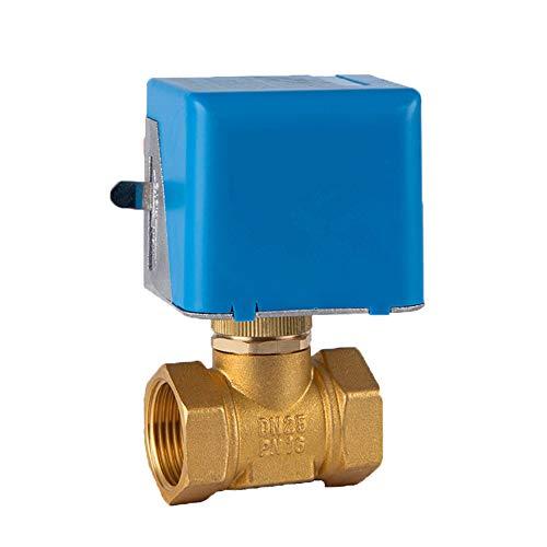 LYY DN20 25 Brass Zwei-Wege-Zentrale Klimaanlage Fan Spule Normalerweise geschlossen Elektro-Globe-Ventil 230V 50/60HZ,DN25