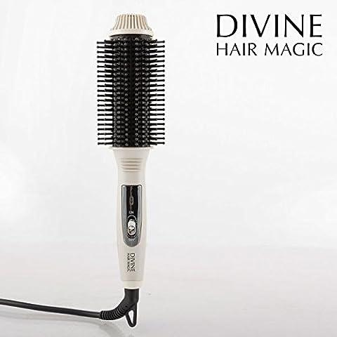 Divine-Magic Heated Styling Electric Hair Brush - (UK 3 Pin Plug)