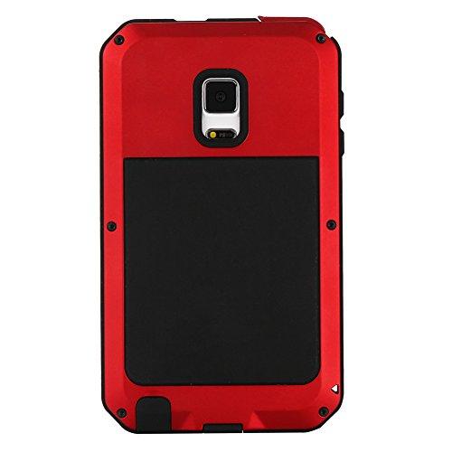 MNBS Phone Coque Etui Housse Antichoc Militaire Heavy Duty Shock Proof Survivor Protective Housse Pour iPhone 6/6SRed Red 6