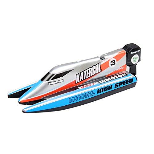 Tosbess 2.4Ghz Wasserdicht RC Speedboot RC Boot Funkferngesteuertes Boot RC Rennboot Geeignet für Kinder Jungen / Mädchen mit Freunden