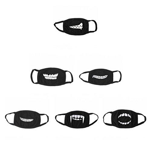 Sharplace 6er Set Herren Damen Outdoor Staubschutz Mund Gesichts Maske Gesichtsmaske
