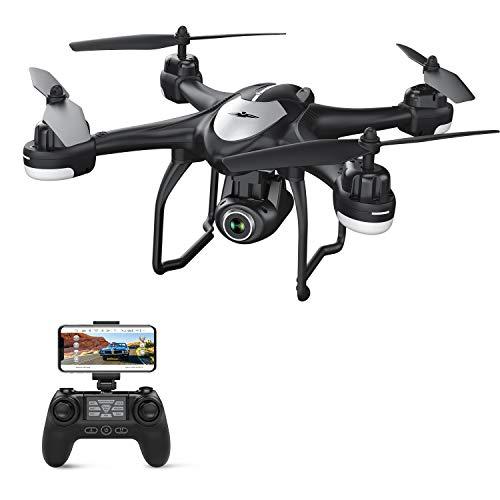 Potensic Drone GPS T18 con Telecamera 1080P Dual GPS con Grandangolare Regolabile VideoCamera HD WiFi FPV Aereo Telecomandato Professionale Multifunzionale Seguimi Mantenere l\'Altitudine, Nero