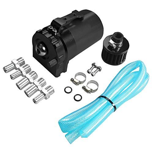 XZANTE Zylinder Aluminium Motoroel Fang Reservoir Breather Tank kann mit Filter schwarz -