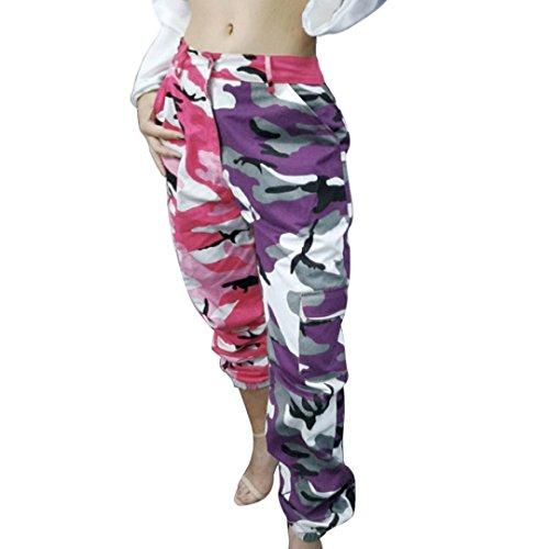 Flare Cordhose (Damenhosen URSING Mode Frauen Sporthosen Tarnung gedruckt Jeans Sport Camo Cargo Hosen Leichte Sommerhosen Outdoor Lässige Freizeit Hose Bleistifthose komfortable Jogginghose (S, Camouflage))