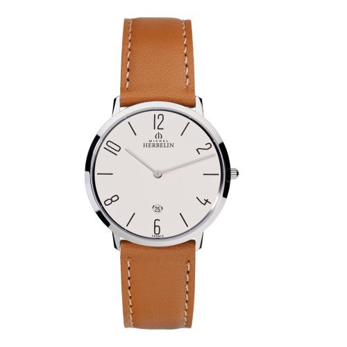 Men's Watch Michel Herbelin - 19515/21GO - CITY - Date - Leather Band
