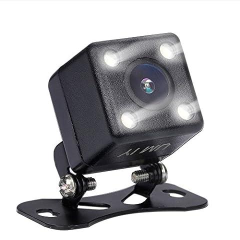 Yimu HD de voiture Caméra de recul, Ym-306Grand Angle de 170° Caméra de recul étanche véhicule Rearview inversée Caméra de recul Vision de nuit avec 4LED infrarouges et dynamique de Trajectoire