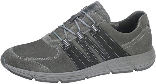 WALDLÄUFER Mens brogue Haslo 323004-421-338 grigio, Gr. 41-46, cuoio, larghezza H, rimovibile Grau