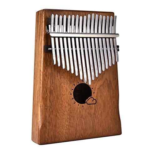 Sforza Kalimba Daumenklavier, Fingerpiano, Leicht zu Spielen, Mahagoni Holz für Unterrichtsanlage, Musik für Anfänger -