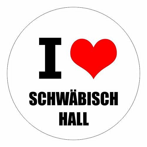I love Schwäbisch Hall in 2 Größen erhältlich Aufkleber mehrfarbig Sticker Decal