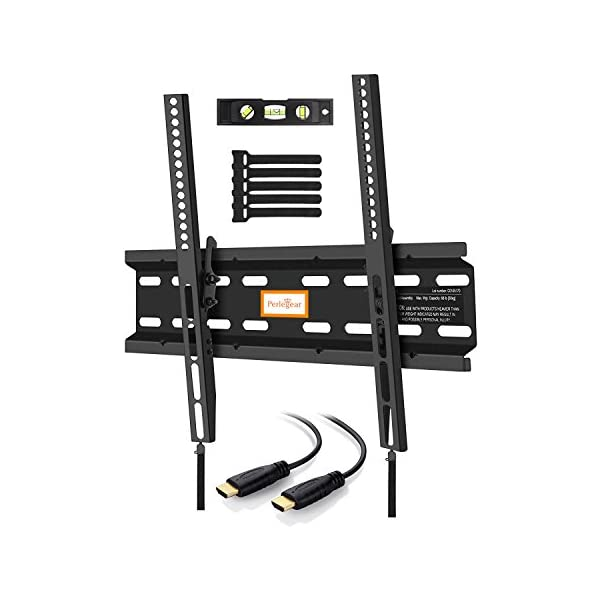 Perlegear TV Bracket Wall Mount, Fits 23-55 inch TVs, Securely Holds 30 KG! Adds Space To Your Home! 41F1vPBtZUL