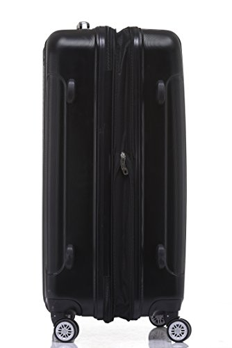 BEIBYE TSA Schloß, Zwillingsrollen, Dehnungsfuge, Hartschale Trolley Koffer Kofferset Reisekoffer Gepäckset (Schwarz) - 3