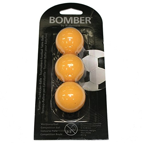 "Kickerball Tischfussball Robertson Tournament Ball ""BOMBER"" 3er Set (orange)"