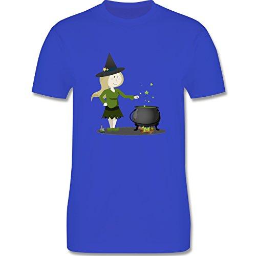 Halloween - kleine Hexe - Herren Premium T-Shirt Royalblau