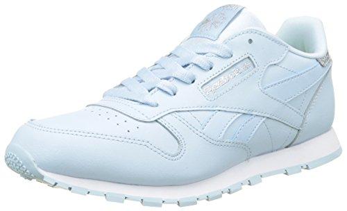 Reebok Mädchen Classic Leather Pastel Sneaker, Blau (Fresh Blue/White), 37 EU (Für Schuhe Nina Mädchen)