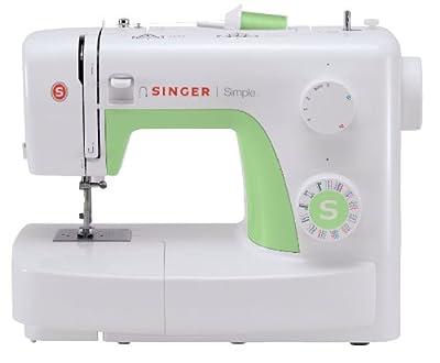 SINGER 3229 - Máquina de coser (Electromecánica, Verde, Color blanco, 385 mm, 190 mm, 290 mm) de SINGER