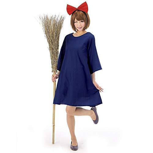 Hexe Kostüm Kiki - Luckydlc Halloween Gruselig Kostüm Klassischen Charakter Kostüm Haus Explosion Hexenkostüm Show Kostüm Party Dekoration luckydlc (Color : Blue, Size : One size)