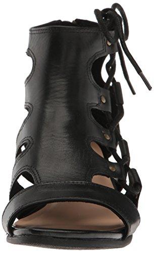 Bella Vita Imani Large Cuir Sandales Compensés Black