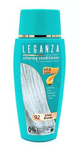 Leganza, teinture baume pour les cheveux sans ammoniaque, couleur blond argent N92, 7 huiles naturelles.