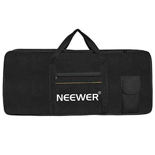 Neewer 61 Key Elektronische Orgel Klavier Keyboard Abdeckung, tragbare Tasche aus Oxford Tuch, 98,5x41x14cm mit großen Kissen Lagerung, Baumwolle gepolstert für Kirche, Konzert, Musik Studio