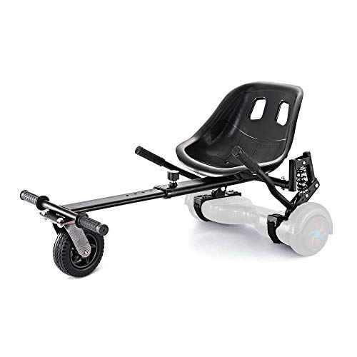 Smarthlon Hoverkart Go Kart Hover Sitz Roller kompatibel mit 6,5, 8, 10 Zoll (A6Schwarz)