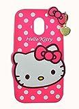 Qzey Premium soft Cute Hello Kitty Back Case Cover For Motorola Moto E3 Power - Pink