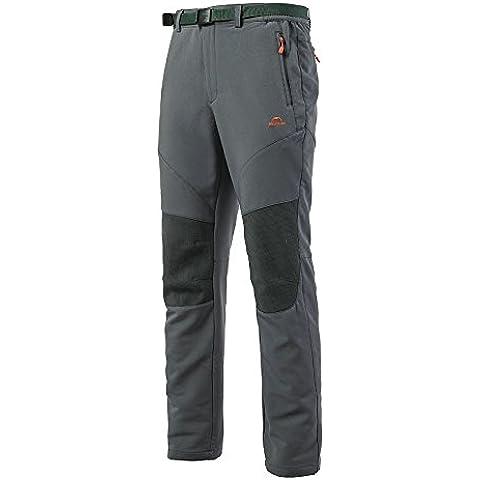 Naturehike pantalones de Soft Shell para hombres deporte senderismo pantalones impermeable 2estaciones completo longitud pantalones deportivos, color gris, tamaño XL