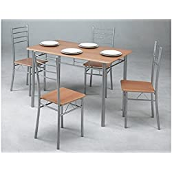 Kit Closet 701039001 - Conjunto de Mesa de Cocina + 4 sillas